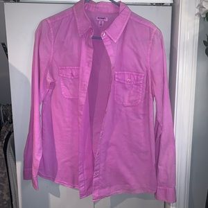 Old Navy Long Sleeve Fuchsia Pink Button Up shirt